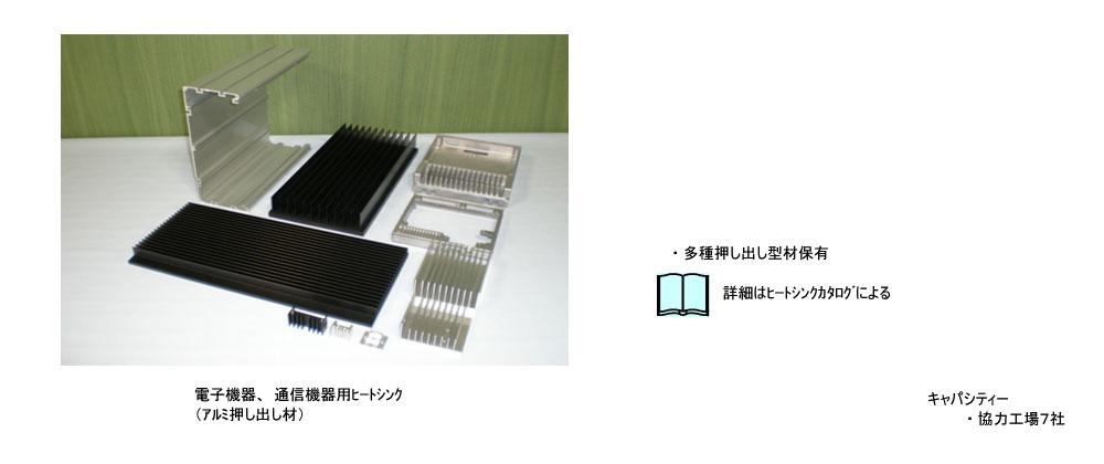 電子機器、通信機器用ヒートシンク